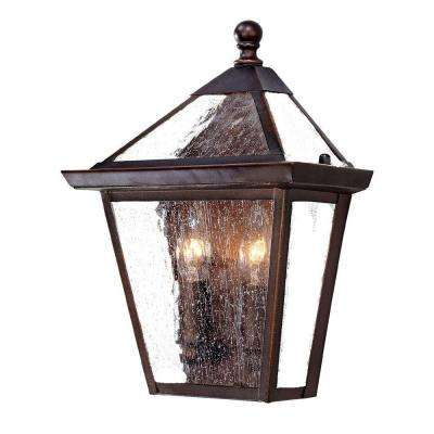Bay Street Collection 2-Light Architectural Bronze Outdoor Wall-Mount Light Fixture