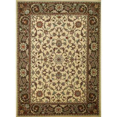 Chester Flora Ivory 5 ft. 3 in. x 7 ft. 3 in. Area Rug