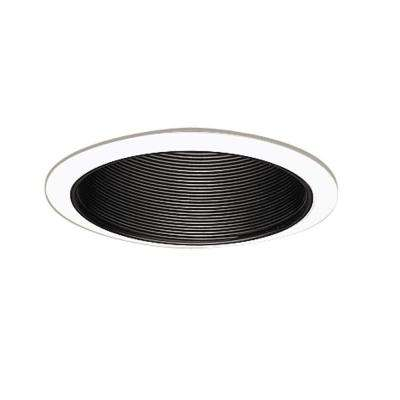 6 in. Black Recessed Lighting Coilex Baffle with White Trim