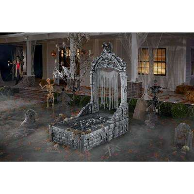 8.5 ft. Grave and Bones Mausoleum Archway and Crypt Halloween Decor