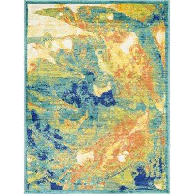Lyon Lifestyle Collection Tropical Island 3 ft. 9 in. x 5 ft. 2 in. Area Rug