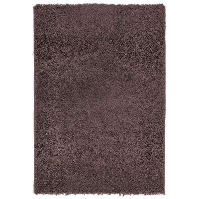 Contemporary Solid Brown 5 ft. x 7 ft. Shag Area Rug