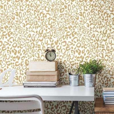 28.18 sq. ft. Leopard Peel and Stick Wallpaper