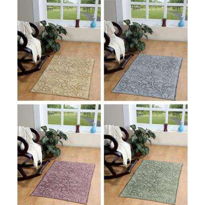 Branson Stonewashed Floral Dusty Orchid 2 ft. x 4 ft. Area Rug
