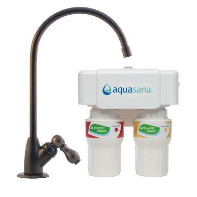 Two-Stage Under Counter Water Filtration System with Oil Rubbed Bronze Faucet