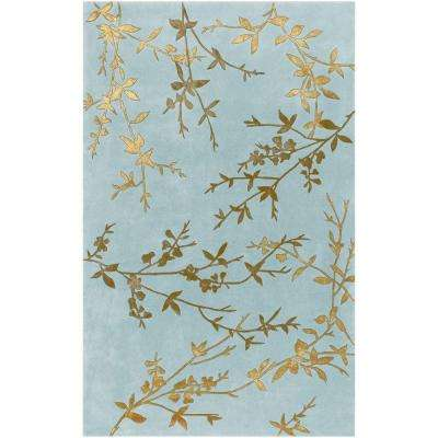 Alicia Spa Blue 2 ft. x 3 ft. Accent Rug