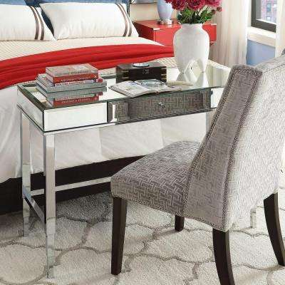 Cecilia Mirrored Writing Desk in Chrome