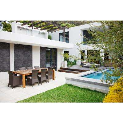 Premium Black Splitface Ledger Panel 6 in. x 24 in. Natural Slate Wall Tile (10 cases / 80 sq. ft. / pallet)