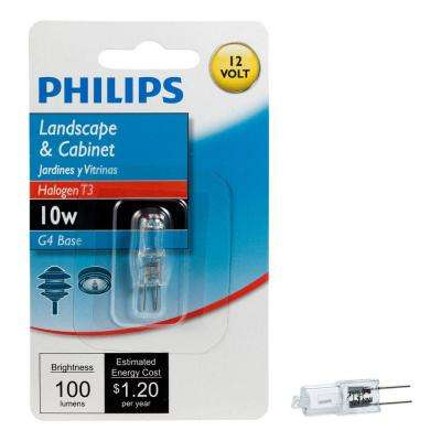 10-Watt 12-Volt Halogen T3 Landscape and Cabinet Bi-Pin Base Dimmable Light Bulb