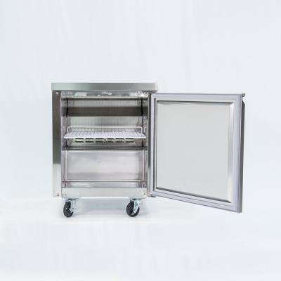 Commercial 6 cu. ft. Single Door Under Counter Refrigerator in Stainless Steel