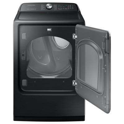 7.4 cu. ft. 240-Volt Black Stainless Steel Electric Dryer with Steam Sanitize+, ENERGY STAR
