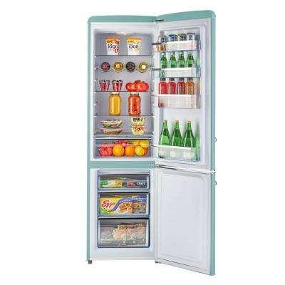 Retro 21.6 in. 9 cu. ft. Bottom Freezer Refrigerator in Ocean Mist Turquoise, ENERGY STAR