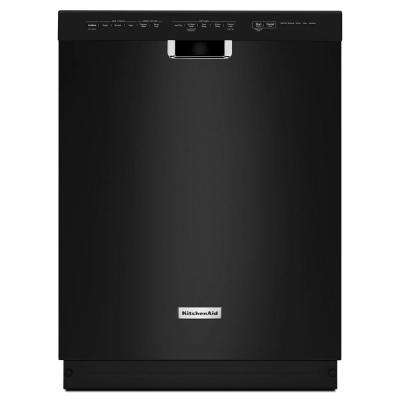 Front Control Dishwasher in Black with Stainless Steel Tub, ProWash Cycle, 46 dBA
