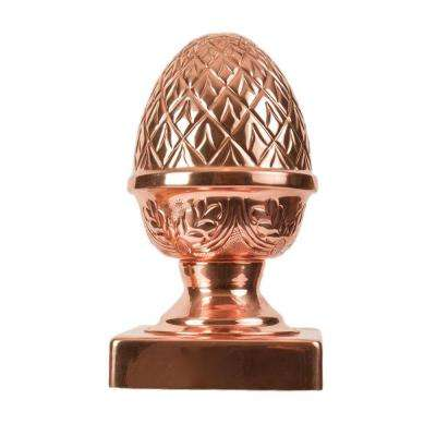 6 in. x 6 in. Copper Pineapple Slip Over Fence Post Cap