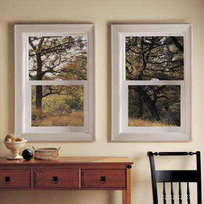 23.5 in. x 47.5 in. V-2500 Series White Vinyl Single Hung Window with Fiberglass Mesh Screen