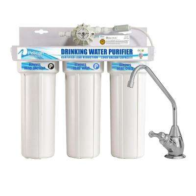 Drinking Water Purifier Dispenser Filtration System with Chrome Faucet
