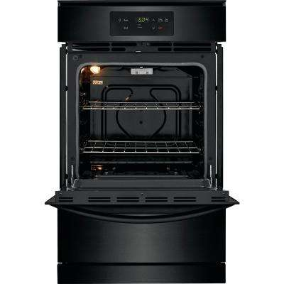 24 in. Gas Wall Oven in Black