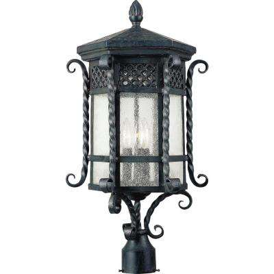 Scottsdale 3-Light Country Forge Outdoor Pole/Post Mount