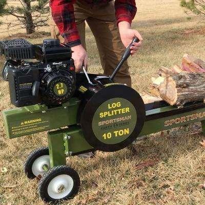 Earth Series 10-Ton 94cc Gas Kinetic Log Splitter