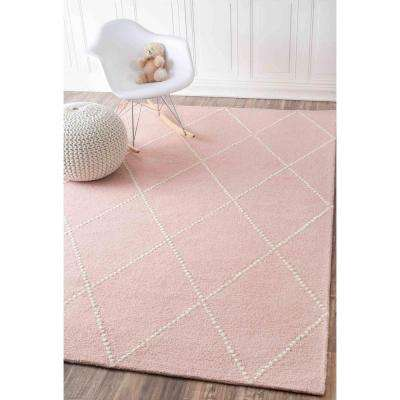 Elvia Baby Pink 8 ft. x 10 ft. Area Rug