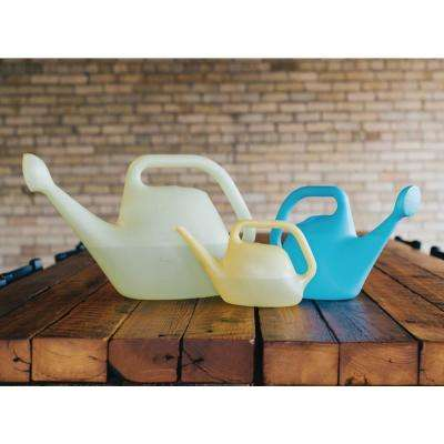 2 Gallon Eucalyptus Watering Can Plastic Translucent