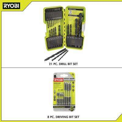 Black Oxide Drill Bit Set (21-Piece) with BONUS (8-Piece) Impact Rated Driving Kit