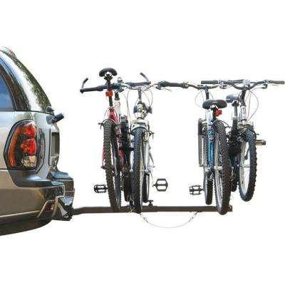 EZ 2-Bike Ball Hitch Rack Bicycle Rack Beach Cruiser Mountain Bike Rack
