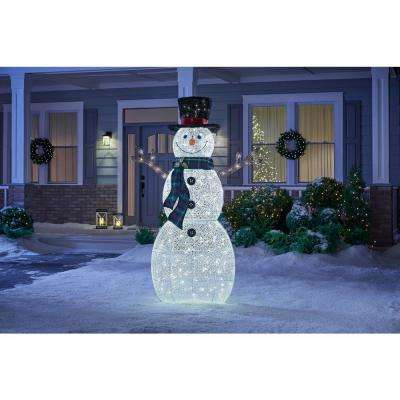 72 in. Christmas Warm White LED Snowman