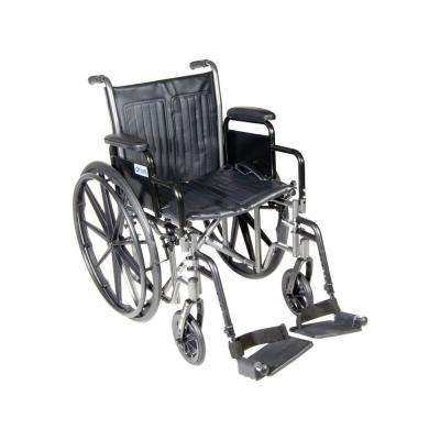 Silver Sport 2 Wheelchair with Desk Arms, Swing Away Footrests and 20 in. Seat