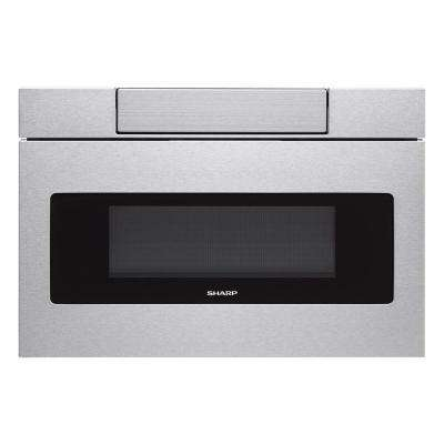 30 in. W 1.2 cu. ft. Built-In Microwave Drawer with Easy Touch Control in Real Stainless