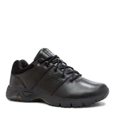 Memory Breach Low Men Black Synthetic Soft Toe Work Shoe