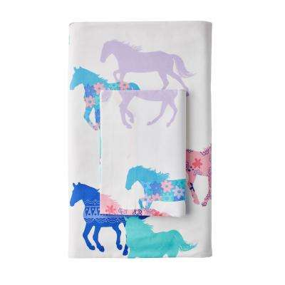 Prancing Ponies 200-Thread Count Cotton Percale Pillowcase (Set of 2)