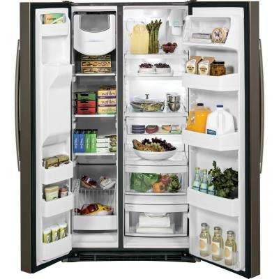 25.3 cu. ft. Side by Side Refrigerator in Slate, Fingerprint Resistant