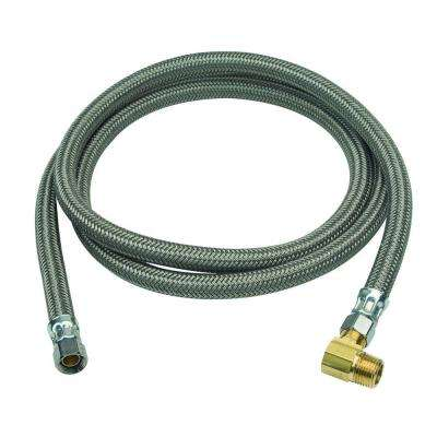 3/8 in. Compression x 3/8 in. Compression x 72 in. Braided Polymer Dishwasher Connector with 3/8 in. Compression Elbow