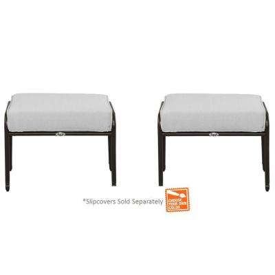 Fall River Patio Ottoman with Cushion Insert (2-Pack) (Slipcovers Sold Separately)