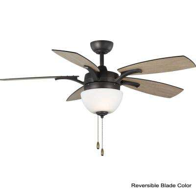 Olson 52 in. Graphite Integrated LED Ceiling Fan with Light Kit