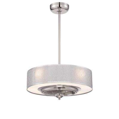 Cozette Collection 24 in. Satin Nickel Indoor Ceiling Fan