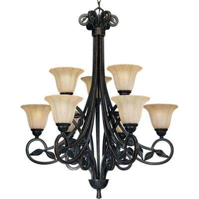 Le Jardin Collection 9-Light Espresso Chandelier
