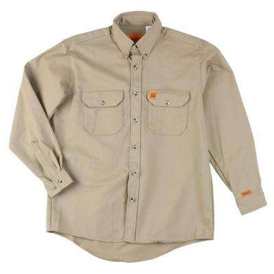 4X-Big Men's Flame Resistant Twill Work Shirt