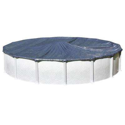 Heritage 27 ft. Round Blue Solid Above Ground Winter Cover
