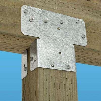 AC ZMAX Galvanized Adjustable Post Cap for 4x Nominal Lumber