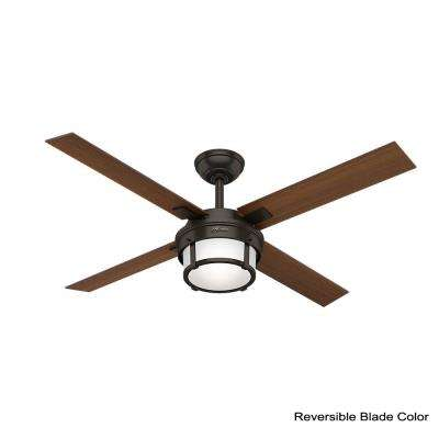 Maybeck 52 in. LED Indoor Premier Bronze Ceiling Fan with Remote