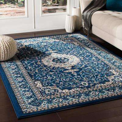 Elias Navy 5 ft. 3 in. x 7 ft. 3 in. Oriental Area Rug