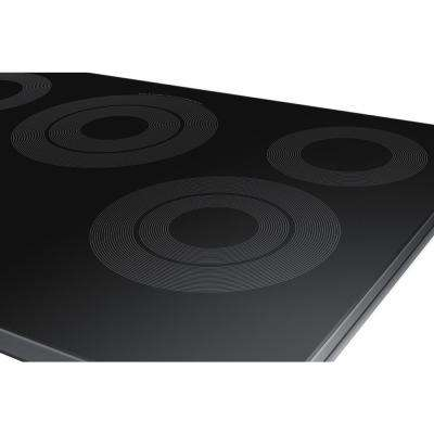 30 in. Radiant Electric Cooktop in Fingerprint Resistant Black Stainless Steel with 5 Elements and Wi-Fi