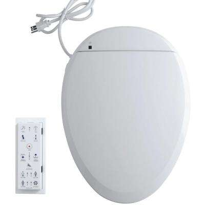 C3 201 Electric Bidet Seat for Elongated Toilets in White