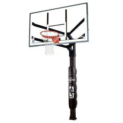 72 in. Glass Inground Basketball System