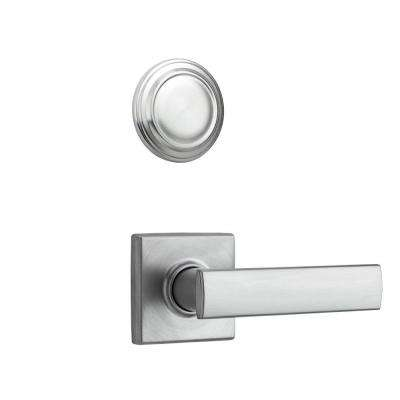 Vedani Square Double Cylinder Satin Chrome Interior Lever Pack