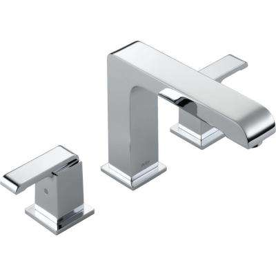 Arzo 2-Handle Deck-Mount Roman Tub Faucet Trim Kit Only in Chrome (Valve Not Included)