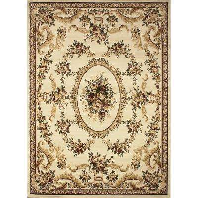 Royalty Ivory 7 ft. 8 in. x 10 ft. 4 in. Indoor Area Rug
