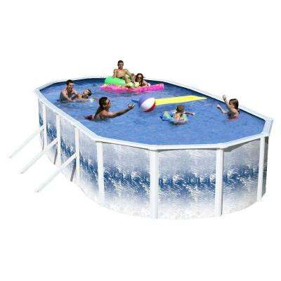 Yosemite 24 ft. x 12 ft. x 52 in. Oval Pool Package
